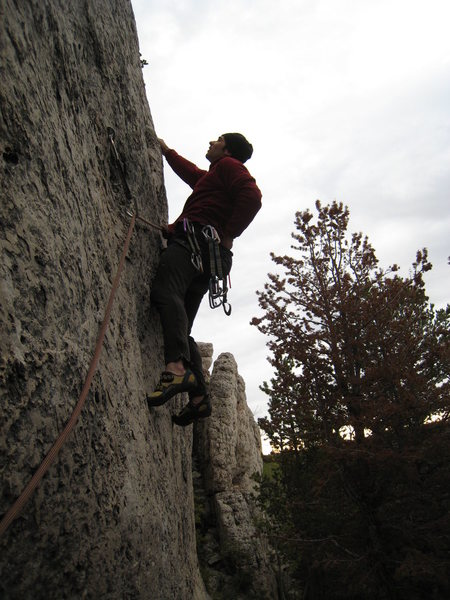 Rock Climbing Photo: Don't be fooled!  This is some hardcore 5.10!  Gra...
