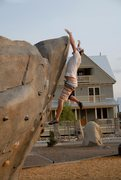 Rock Climbing Photo: Dyno to the lip.