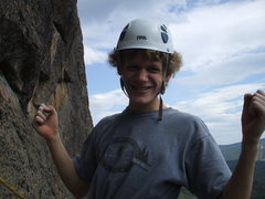 Rock Climbing Photo: Me on the belay of last unicorn pitch two.