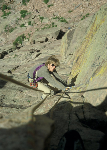 Rock Climbing Photo: Kevin Sargent cruising the top of Reggae.
