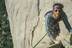 Rock Climbing Photo: Mark Sargent at end of 3rd pitch, The Classic