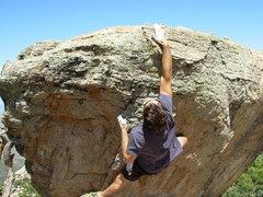 Rock Climbing Photo: Great jugs at the top.
