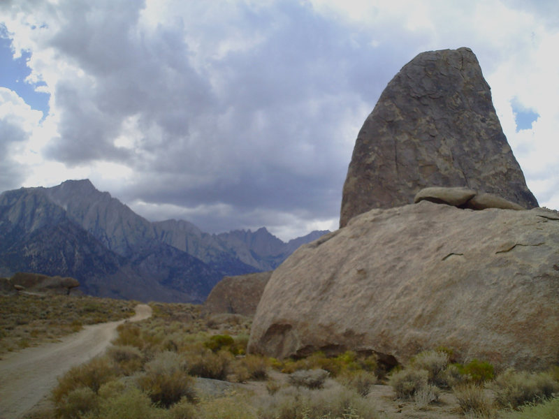 Rock Climbing Photo: shark's fin on a stormy summer afternoon