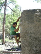 Rock Climbing Photo: After the initial move, about to reach for the gre...