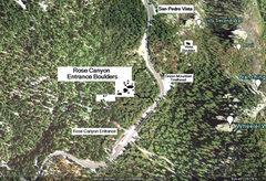 Rock Climbing Photo: Map of Rose Canyon Entrance Boulders