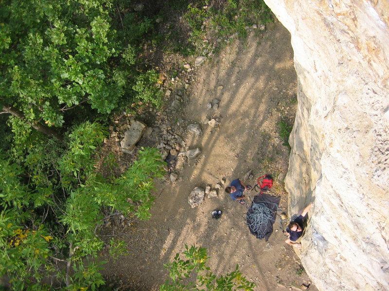 Rock Climbing Photo: brandon at the start.