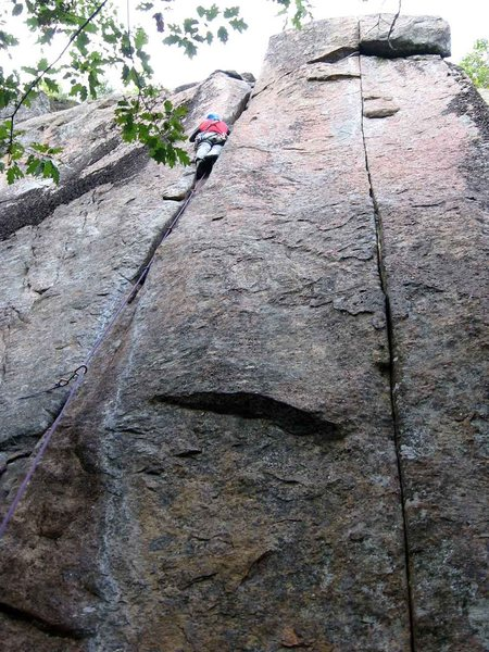 Jay Harrison on the First Ascent of <em>Parallel Passage</em>. Photo by Todd Paris.