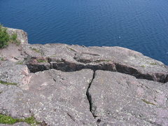 Rock Climbing Photo: top-out/top-rope anchor location.