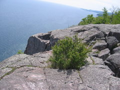 Rock Climbing Photo: another view of top out/top-rope anchor location. ...