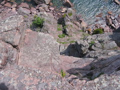Rock Climbing Photo: view from edge of top-out.
