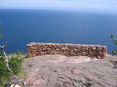 Rock Climbing Photo: amphitheatre stone wall lookout/barricade. hidden ...