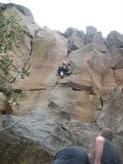 Rock Climbing Photo: On Griffo route.  Crack on the left is Bush Rush