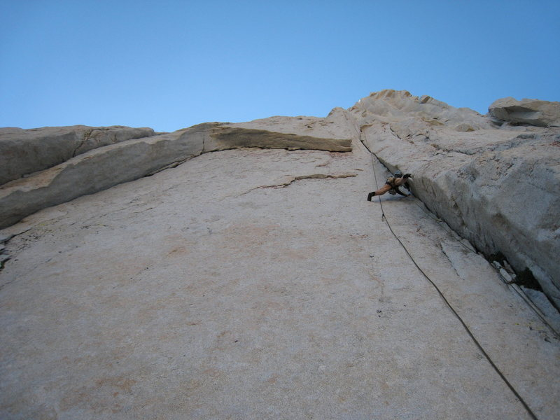 Rock Climbing Photo: 50 Feet up the first pitch, in the middle of the s...