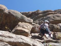 Rock Climbing Photo: CM starting out on HO De DO.