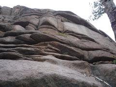 Rock Climbing Photo: Dum De Dum Dum climbs the two parallel seams above...