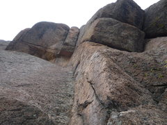 Rock Climbing Photo: The second pitch.  After the two bolts the line go...