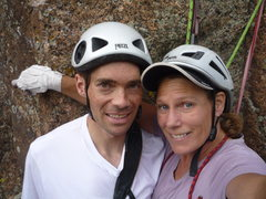 Rock Climbing Photo: JE and CM.  A fun day in the S. Platte.