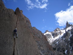 Rock Climbing Photo: unknown Brazilian climber on la fissura de Jim
