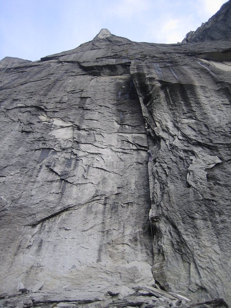 Rock Climbing Photo: the foreshortened Southeast Face from the base of ...