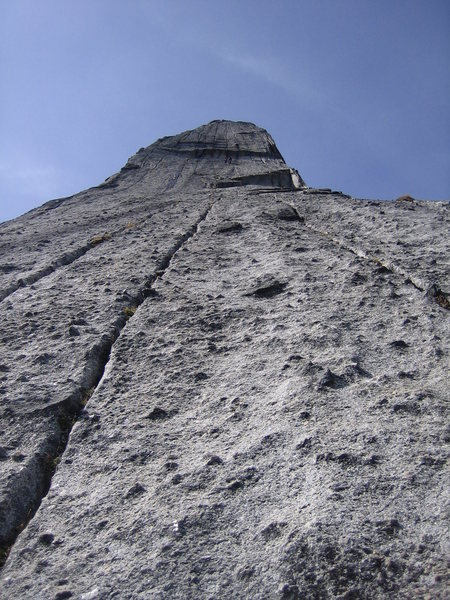 Rock Climbing Photo: more headwall:  an Italian group of three tackling...