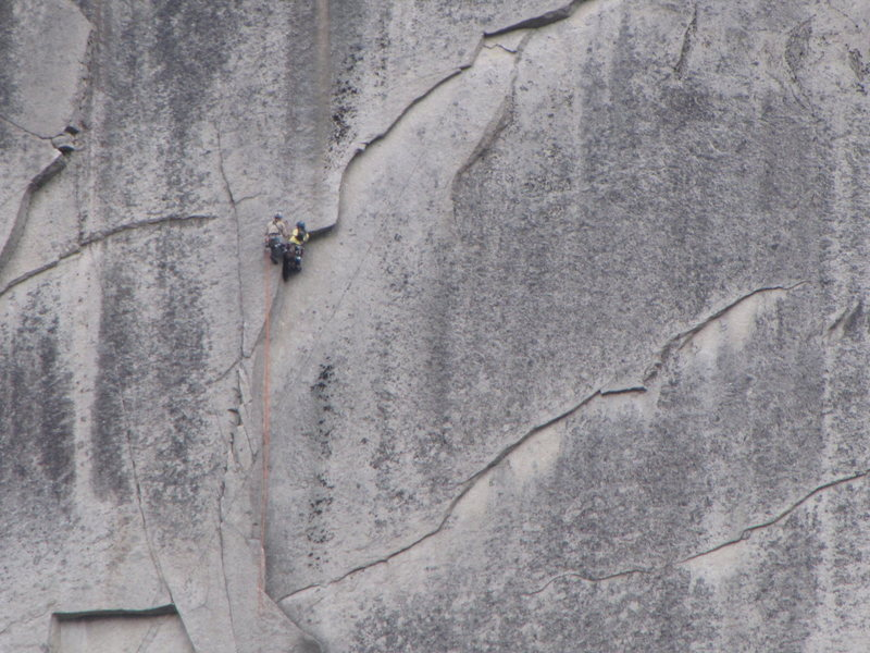Rock Climbing Photo: Comfy belay before the A0 bolt ladder
