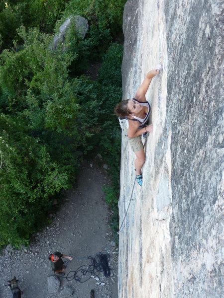 Rock Climbing Photo: Lisa Cecchini 5.9