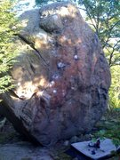 Rock Climbing Photo: The other main boulder at the top of the Little Ag...