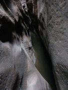 Rock Climbing Photo: Keyhole Canyoneering route in Zion (our second can...