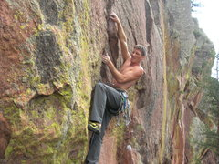 Rock Climbing Photo: Steven cruxing.