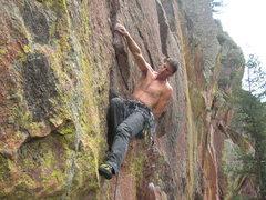 Rock Climbing Photo: Steven milkin' the rest.