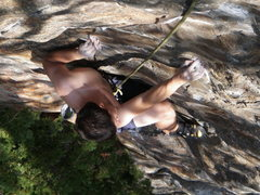 Rock Climbing Photo: Crimpin' up the west side