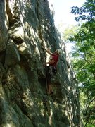 Rock Climbing Photo: About to enter the crux section.  Fun route.  Beau...