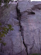 Rock Climbing Photo: The lower crack with great passive pro.