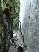 Rock Climbing Photo: I think you need a 70m rope to lower all the way t...