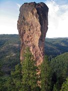 Rock Climbing Photo: The pillar from the trail just before it drops dow...