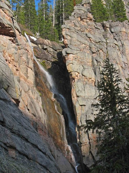 Eager Beaver Falls in early summer runoff.