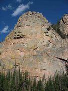 Rock Climbing Photo: Rose Quartz Tower as seen from across the creek to...