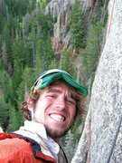 Rock Climbing Photo: Schmitz self-portrait on belay duty.