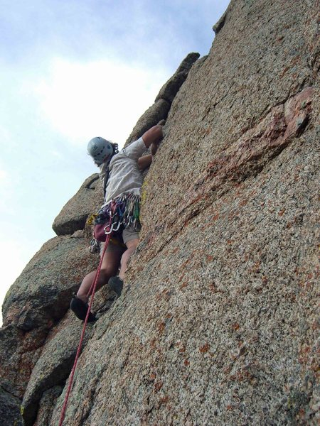 Rock Climbing Photo: Bryan starts up P5.