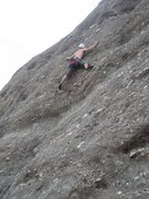 Rock Climbing Photo: Erik at the crux of Dark Star, not seeing the &quo...