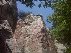 Rock Climbing Photo: Jay Knower on lead 7/26/09