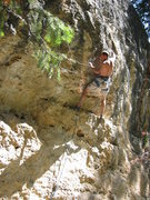 Rock Climbing Photo: 2nd crux on the barney route