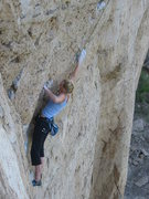 Rock Climbing Photo: Ruston moves into the overhang