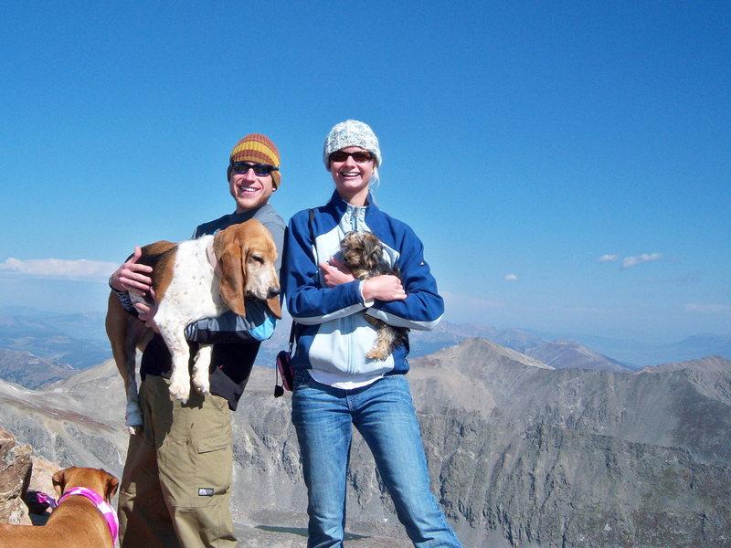 Rock Climbing Photo: My Family atop mt Bierstadt 14,060 9/07