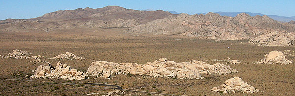 Rock Climbing Photo: Hall of Horrors area from Ryan Mountain. Photo by ...