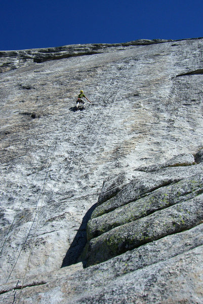 Rock Climbing Photo: Great knob climbing on the second pitch. September...