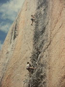 Rock Climbing Photo: K. Mcl. on pitch 2- Bachar -Yerian