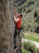 Rock Climbing Photo: Crimping my way up The Great Uterus Escape during ...