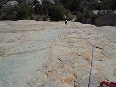 Rock Climbing Photo: On the Soft Walk var. 2nd pitch photo by Jeff Kenn...