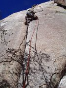 Rock Climbing Photo: Starting the 2nd pitch of Crack Lovers